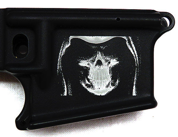 AR-15 With Skull Logo